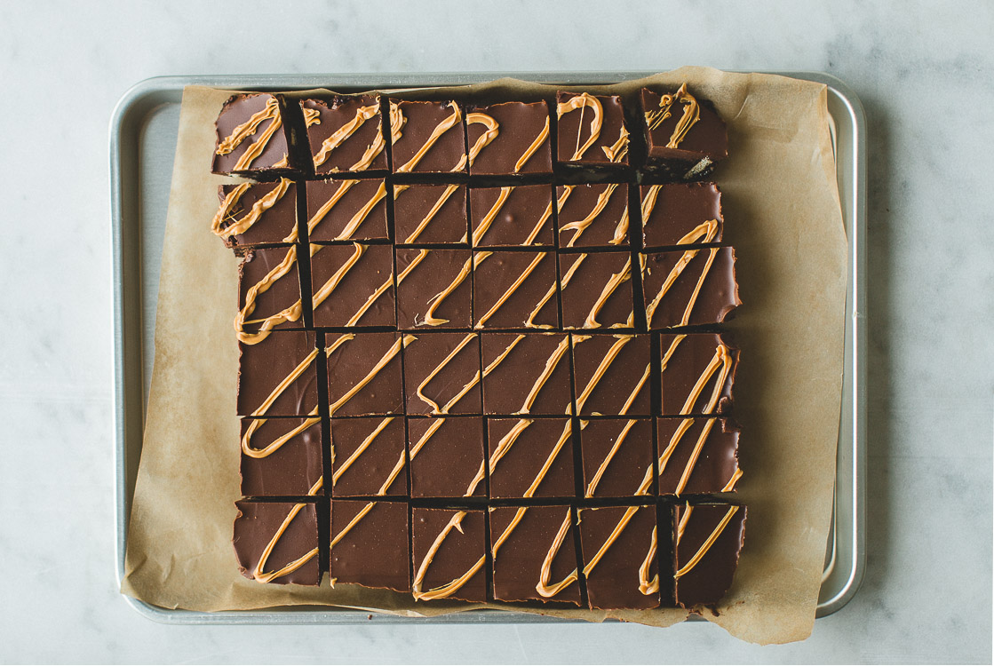 Easy No-Bake Chocolate Peanut Butter Squares