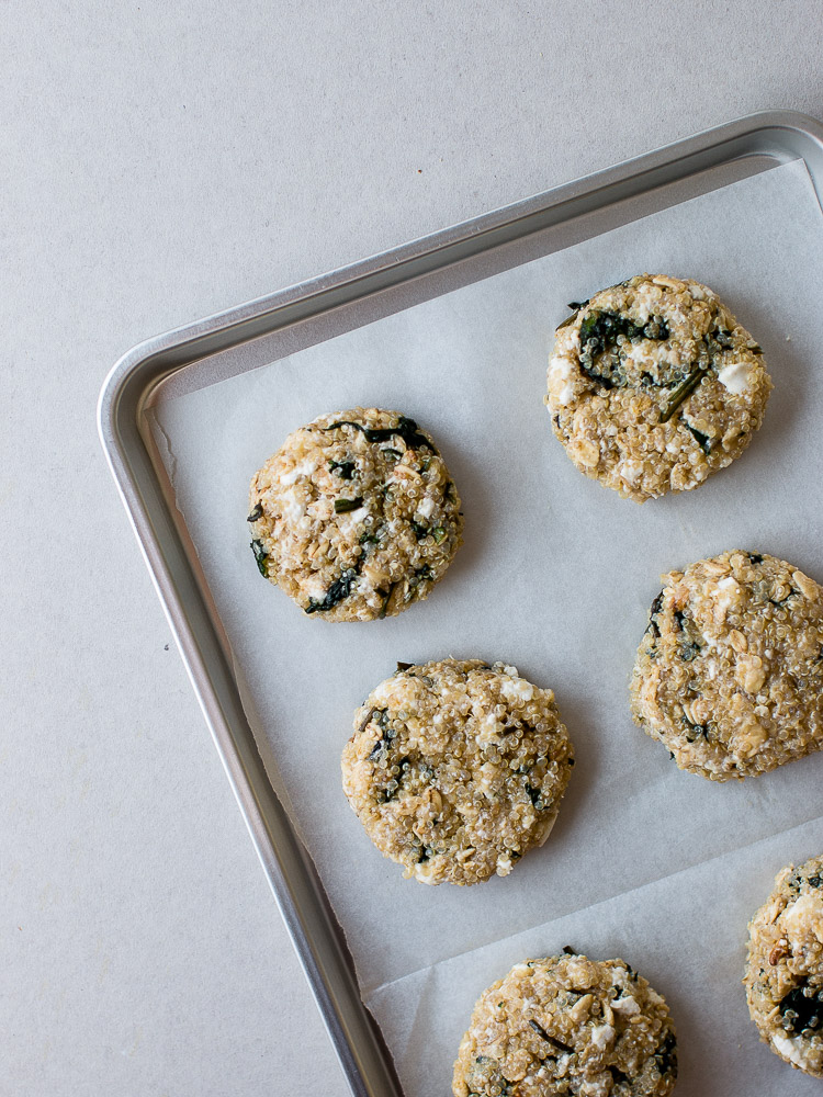 Spinach and Feta Quinoa Patties