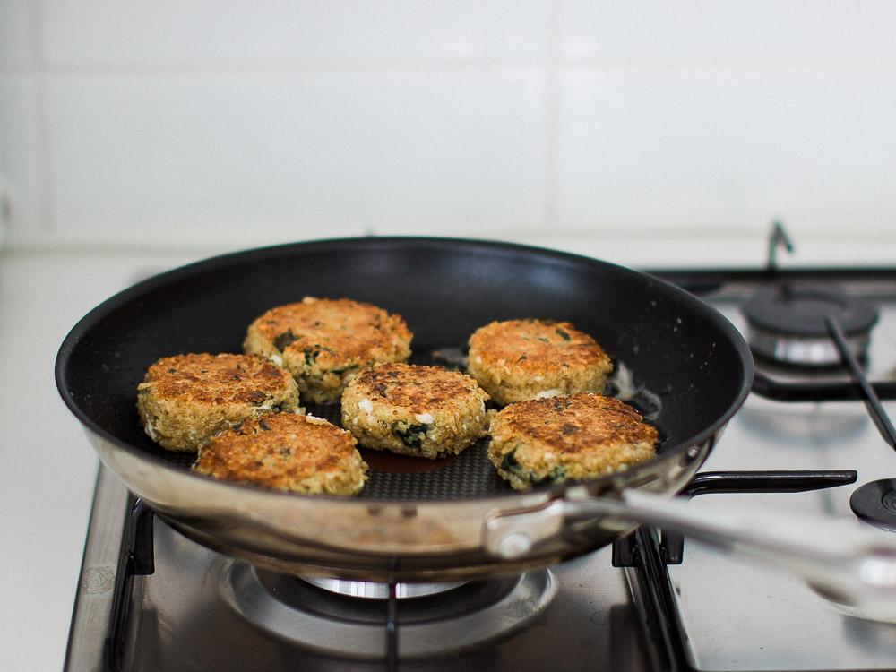Spinach and Feta Quinoa Patties