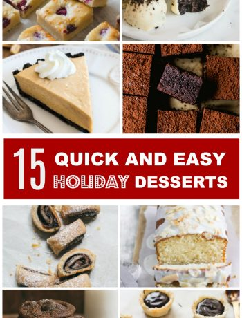 Quick and Easy Holiday Desserts