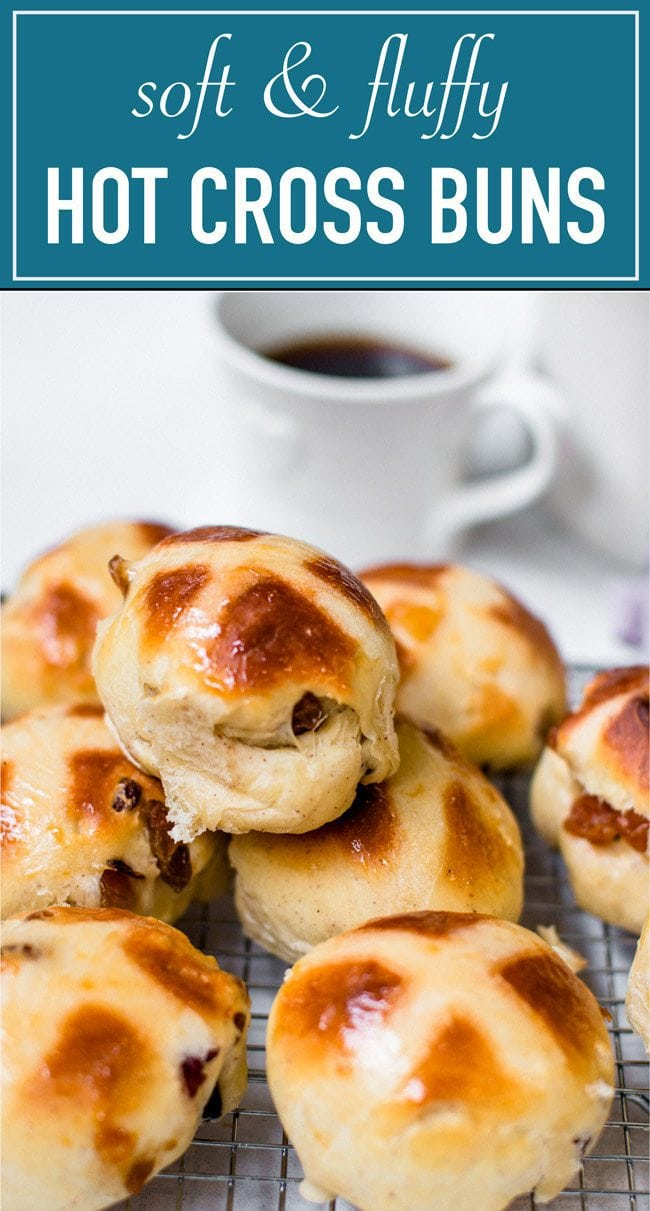 the ultimate hot cross buns, soft and fluffy, and perfect for easter or during the holidays