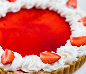 Easy and impressive no-bake strawberry and white chocolate tart with a simple cookie crust.