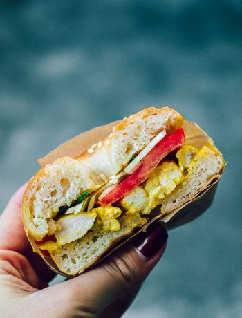 You won't et enough of these curry chicken salad bagels sandwiches