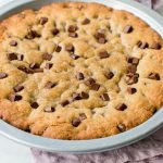 Soft and Chewy Giant Chocolate Chip Cookie Cake
