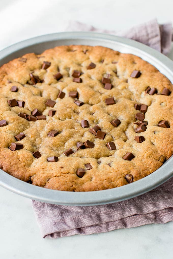 Terrific Ultimate Chocolate Chip Cookie Cake Video Pretty Simple Sweet Funny Birthday Cards Online Overcheapnameinfo
