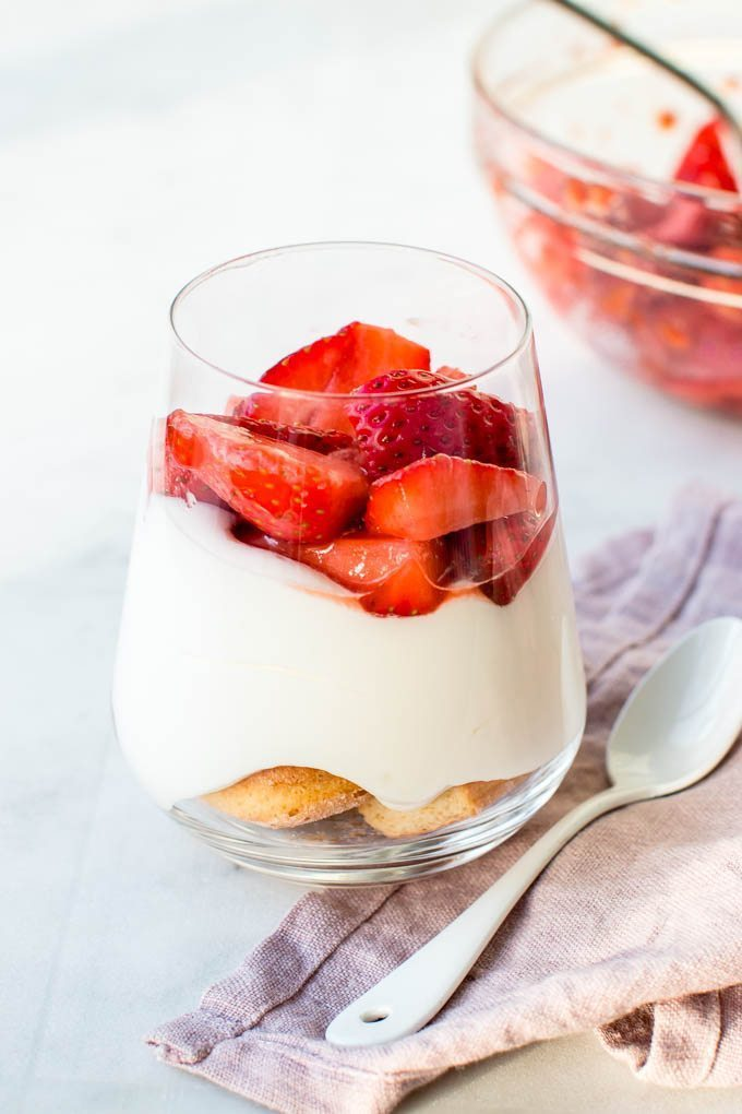 Strawberry white chocolate cheesecake parfaits