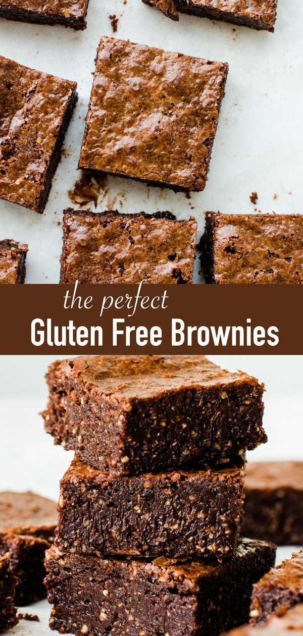 The best gluten free brownies. These homemade flourless chocolate brownies are made with hazelnuts and they are so fudgy, they will melt in your mouth! Plus they are super easy to make.