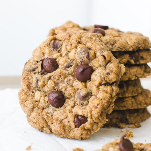 Chewy Oatmeal Chocolate Chip Cookies Pretty Simple Sweet