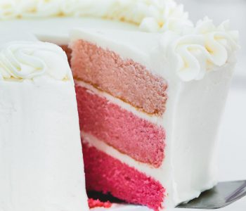 Gender Reveal Cake Pink Ombre Cake