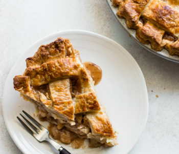 caramel pear pie