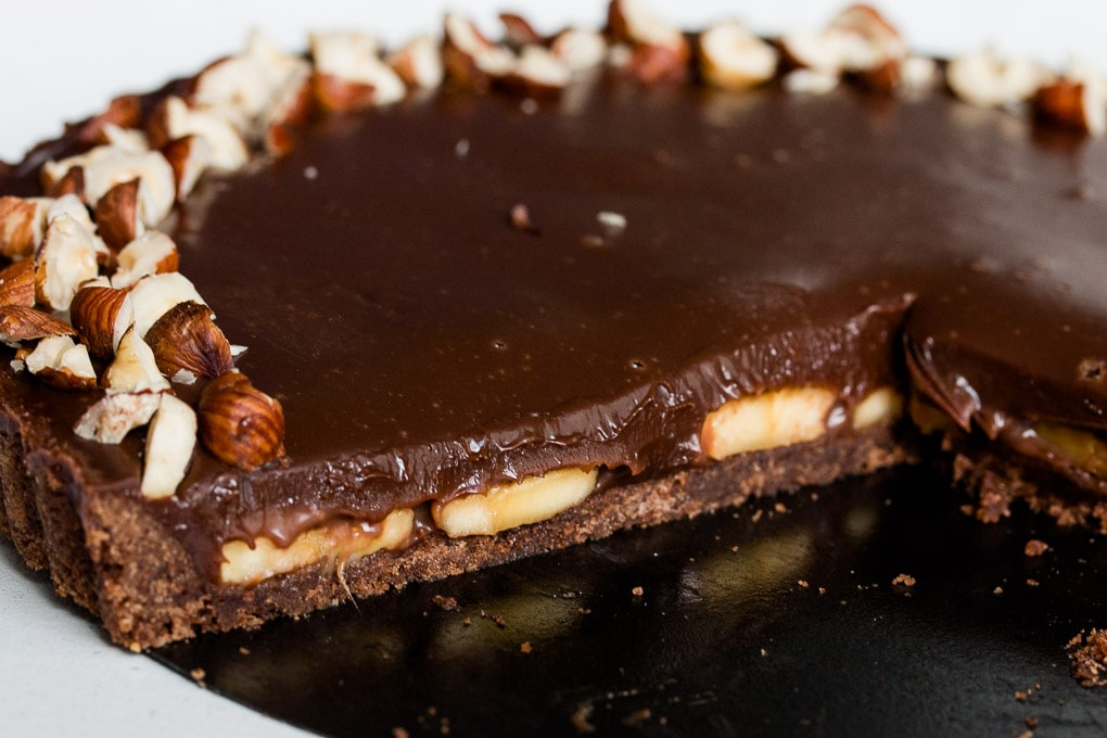 Chocolate Banana Tart with Nutella
