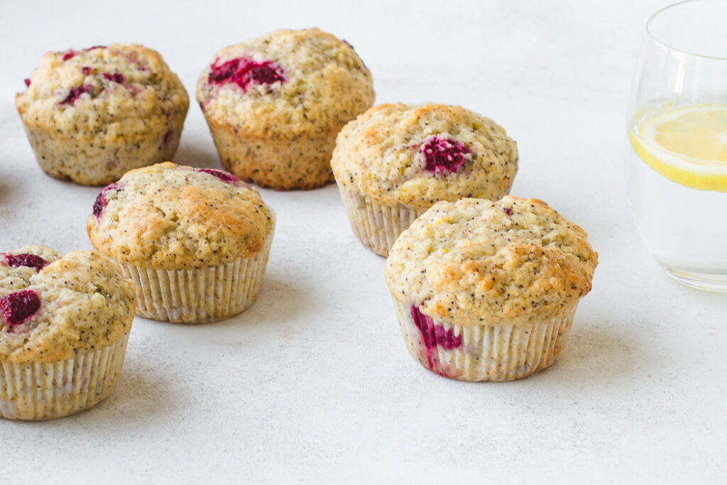 Lemon Poppy Seed Raspberry Muffins