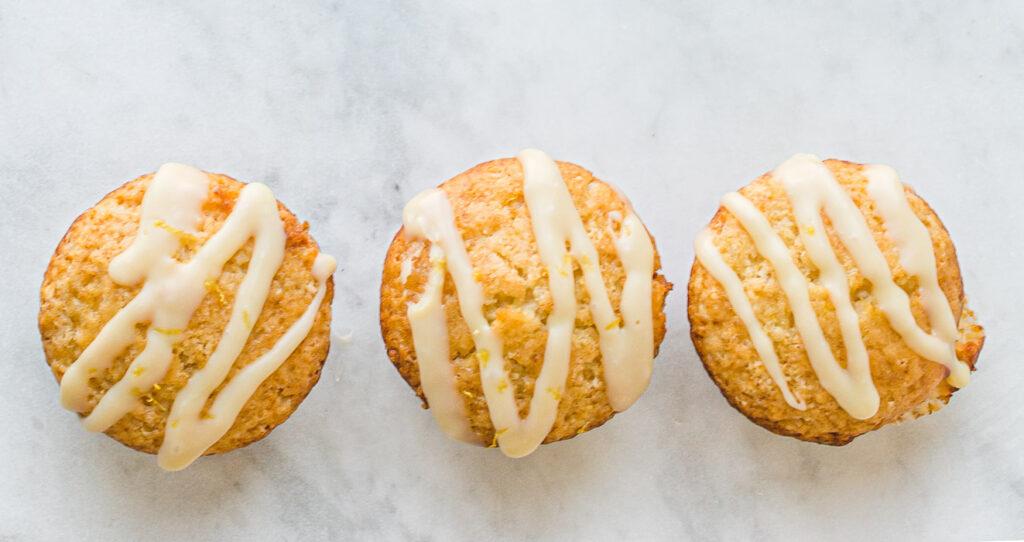 Lemon White Chocolate Muffins